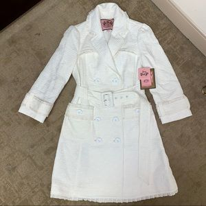 Juicy Couture Belted Dressy Fitted Trench Coat